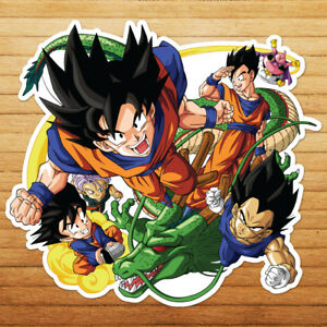 Goku-Vegeta-Gohan-Shenron-Majin-Buu-Car-Die-Cut-Window-Vinyl-Decal-Sticker