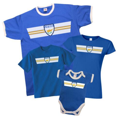 CYPRUS Patriotic Retro Strip T-Shirt *Choice Of MENS LADIES KIDS BABY GROW*