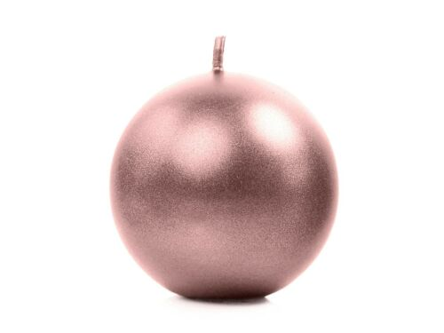 Rose Gold Candle Birthday Party Engaged Wedding Christmas Home Decor Sphere 6 cm