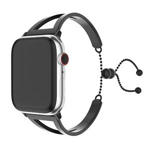 Stainless Steel Luxury Black Strap Cuff Fashionable band, 40mm, For Apple iWatch