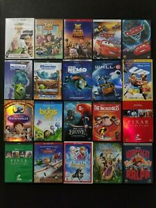 Pixar / Disney 20 DVD Lot: Toy Story Cars Monsters Inc. Up ... Wreck It Ralph Trailer Toy Story