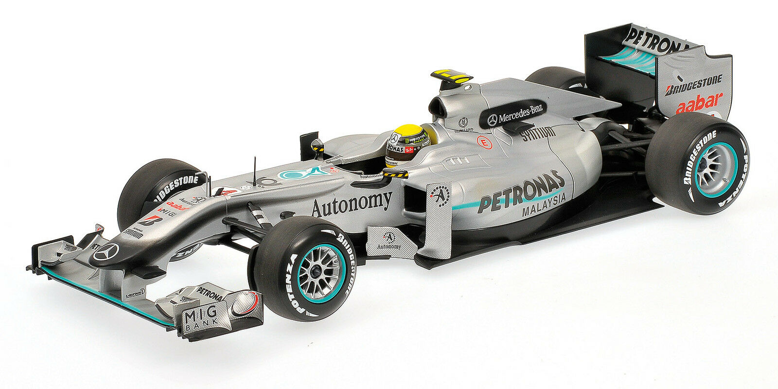 Mercedes GP W01 Formula 1 Nico Rosberg 2010 1 18 Model 110100004 MINICHAMPS