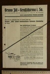 Zill Zillia Großschirma Pflug Maschinen Feld Technik Bauer Werbung Katalog 608 Zahlreich In Vielfalt Kataloge Periodika & Kataloge