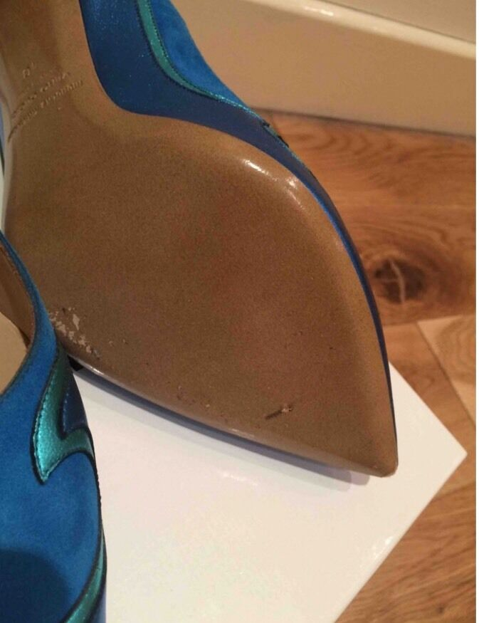 Nicholas Kirkwood Blau Blau Blau Suede Metallic Heels. Größe EU40. BNWB 9454b2