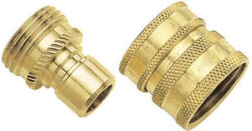 Green Thumb 09QCGT:Solid Brass Quick Connect Set w// Hose /& Attachment Connector