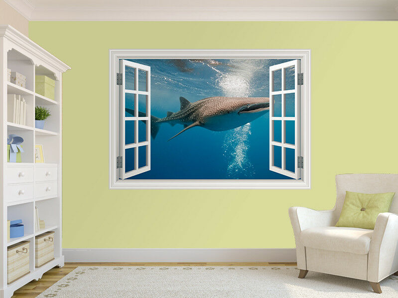 Wal Shark Foto Fenster Wandaufkleber Wandbild (8501952ww)