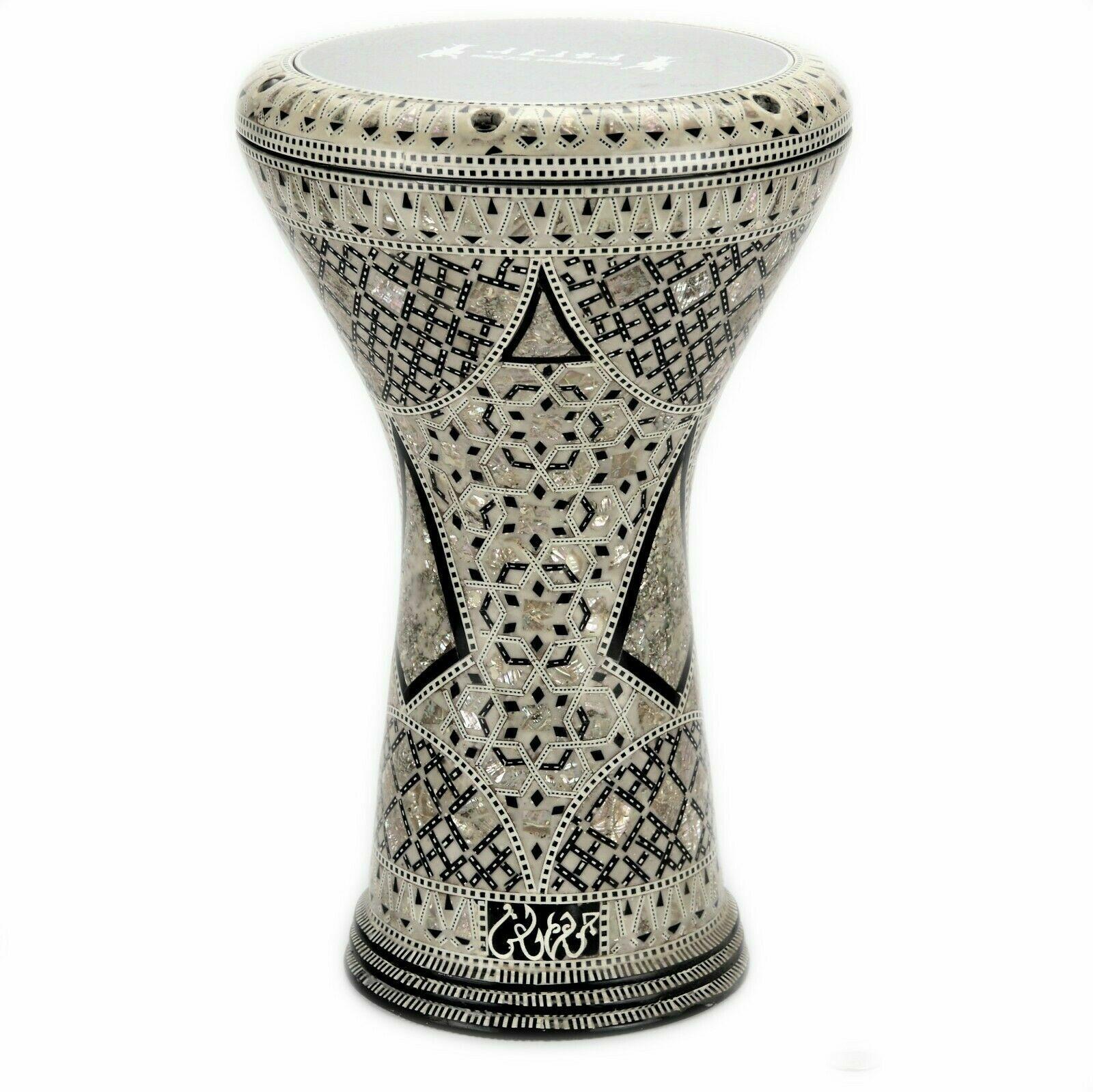 Ägyptische handgemachte Drum Darbuka Tabla doumbek Mutter der Perle Gawharet El Fan m19