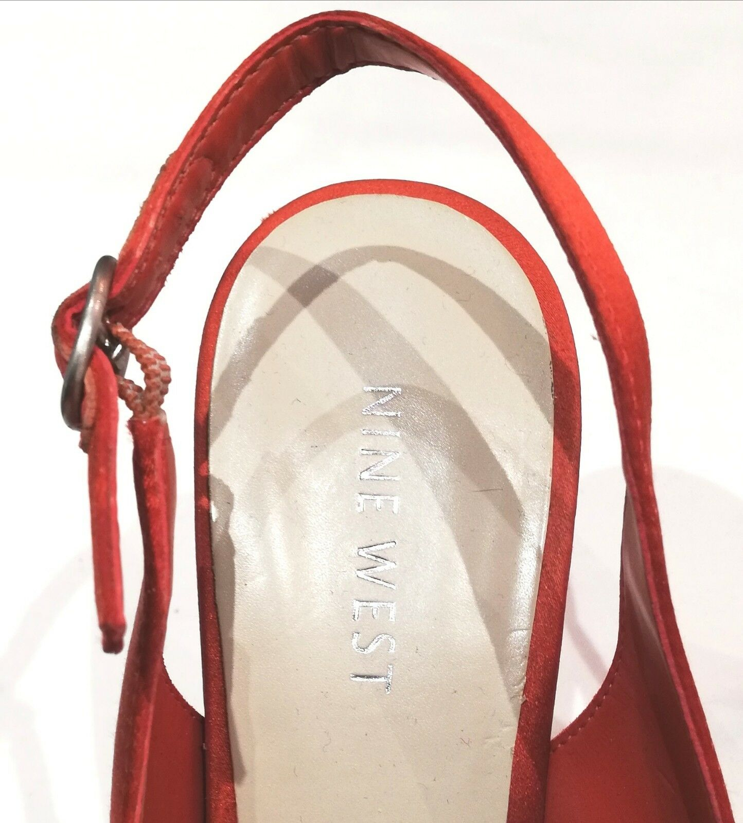 Nine West West West Peep Toes High Heels Orange  Rosa Colour Block Platform Größe 7.5US 6UK c00d03