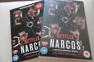 NARCOS-SEASONS-ONE-AND-TWO-1-amp-2-NETFLIX-7-DISC-BOX-SET-PAL-REGION-2-CERT-15