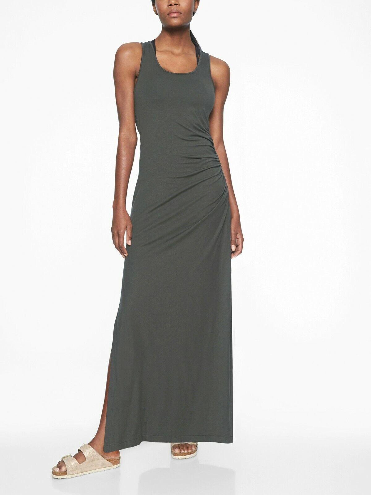NWT Athleta Playa Maxi Dress, schwarz Olive Größe MP M P                o19