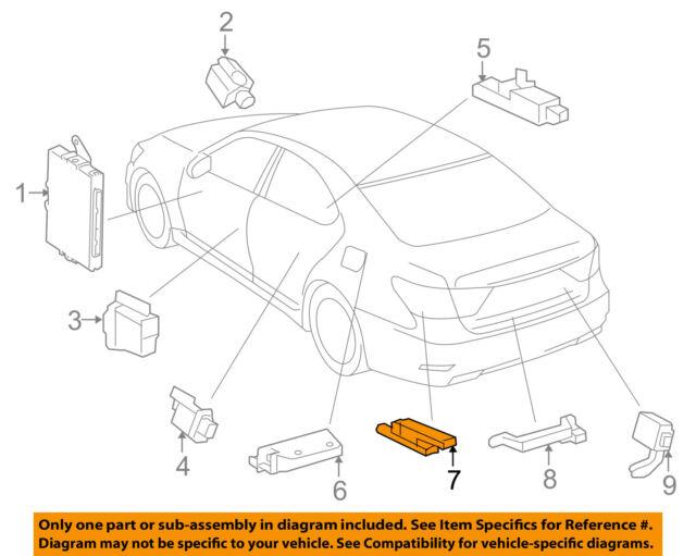 Lexus Toyota Oem 12 15 Ls460 Keyless Entry Antenna 8999250111