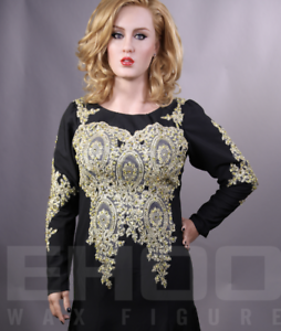 Life Size Adele Singers Movie Prop Wax Statue Realistic Display Figure 1:1