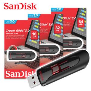 SanDisk-USB-16GB-32GB-64GB-Cruzer-Glide-USB-3-0-USB-Flash-Pen-thumb-Drive-CZ600