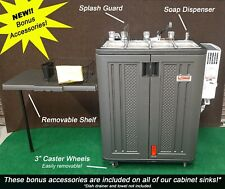 Propane Propane Sink 4 Compart With Removable Shelf Soap Dispenser And Wheels