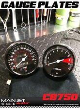 Honda CB750 CB Cafe Racer Gauge Face Plates Decal Overlay Applique Clocks Plate
