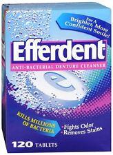 Efferdent Denture Cleanser Tablets Anti-Bacterial 120 ea