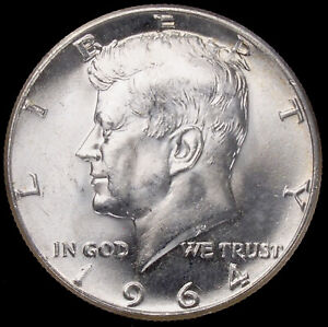 United States Kennedy Half Dollar 1964 JFK (Choose Grade & Mintmark) (GLIC-003I)