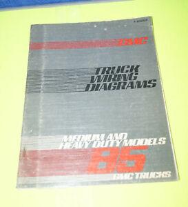 1985 Chevy Gmc Medium Heavy Duty Truck Wiring Diagrams Manual Book Ebay
