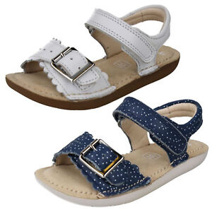 d438b8fb57de Image is loading GIRLS-CLARKS-SILVER-LEATHER-SANDALS-IVYBLOSSOM-INF