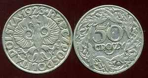 POLOGNE-50-groszy-1923-bis