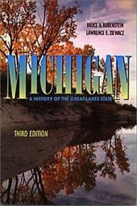 Michigan-A-History-of-the-Great-Lakes-State-by-Rubenstein-Bruce-Paperback