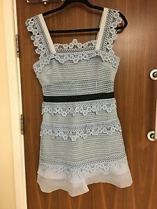 aebe4ae183 SELF PORTRAIT Petunia Lace Panelled A-Line Mini Dress Sizes UK14 ...