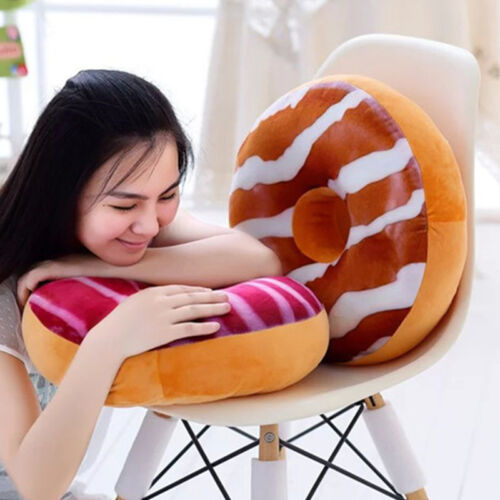 3D Plush Soft Warm Donut Fruit Food Pillow Chair Round Seat Pad Sofa Cushion UK