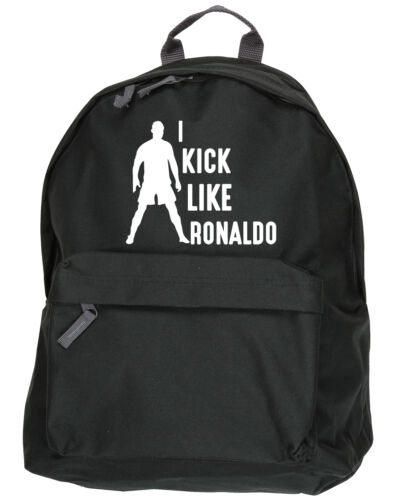 I Kick Like Ronaldo kit bag backpack ruck sack football school