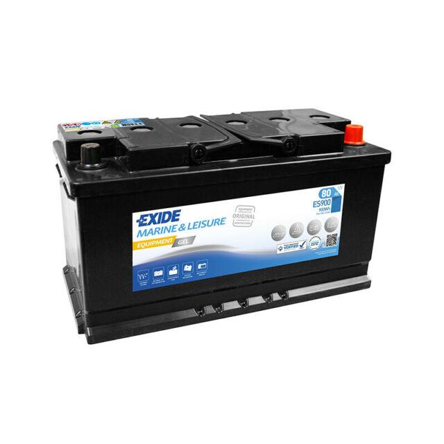 Batterie décharge lente Exide Gel ES900 12v 80ah