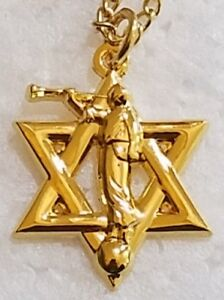 Star-of-David-Moroni-Jewish-Mormon-PENDANT-with-free-chain