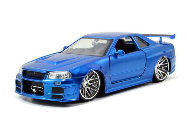 JADA 97036 97173 97158S NISSAN SKYLINE GTR R34 R35 model car FAST & FURIOUS 1 24