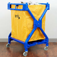 Lavex 10 Bushel Commercial Rolling Laundry Linen Hotel Trash Housekeeping Cart