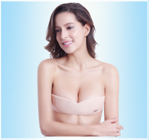 Strapless-Silicone-Push-Backless-Self-Adhesive-Gel-Magic-Stick-Invisible-Bra-New