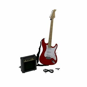 new st 6 string full size electric guitar set with 10w amp 638353966287 ebay. Black Bedroom Furniture Sets. Home Design Ideas
