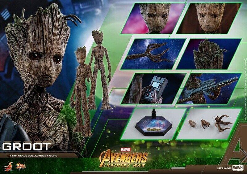 Hot Toys MMS476 Marvel Marvel Marvel Avengers Infinity Groot 1 6th Figure Brand New Unopened f2494d