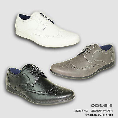 CORONADO New Men Casual Shoe COLE-1 Comfort Soft Oxford with Wing Tip Almond Toe