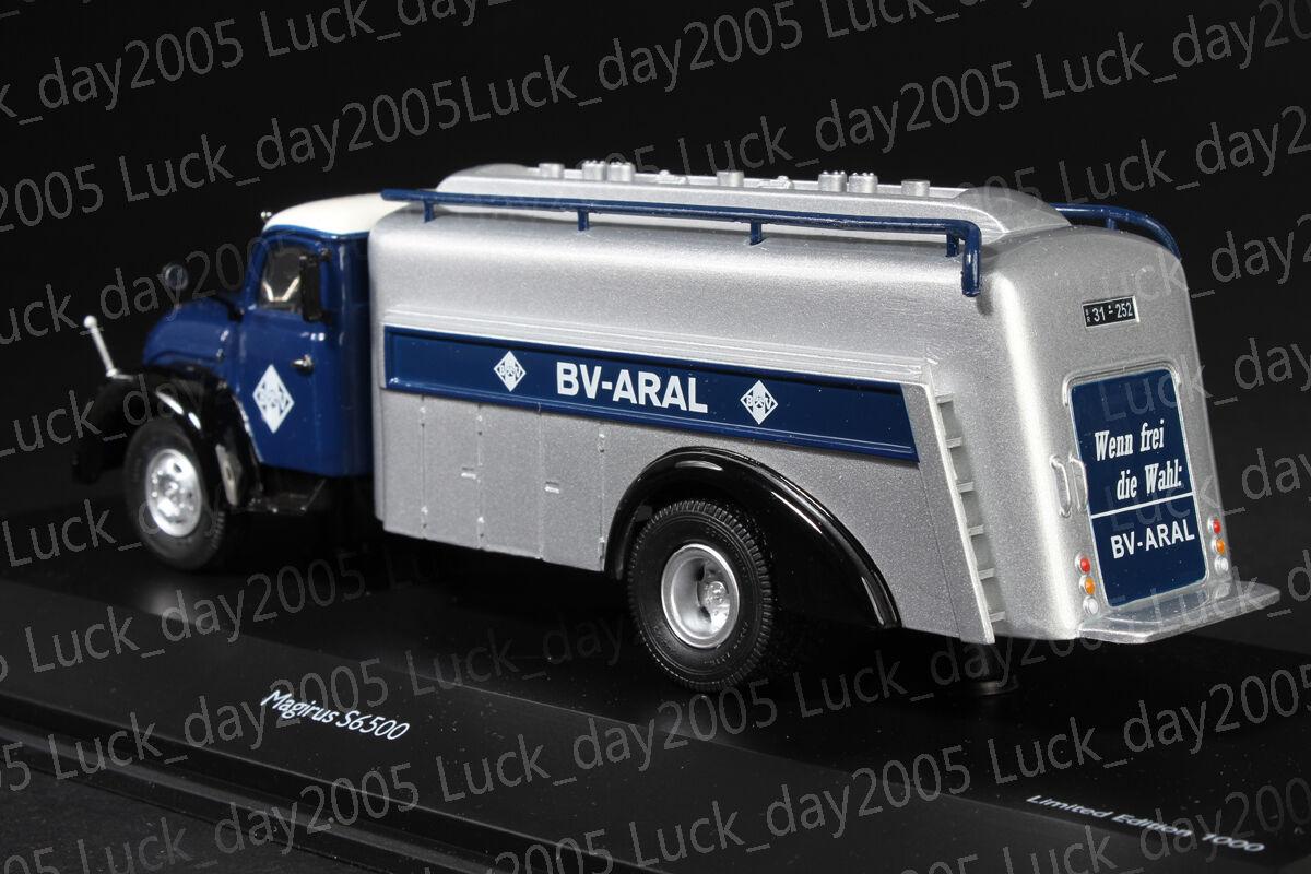 SCHUCO Magirus S6500 Tankwagen ARAL ARAL ARAL 1 43 Discast Model 19705d