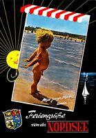Feriengrüße von der Nordsee  , Ansichtskarte 1984 gelaufen