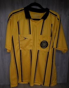 df273cee6 SCORE SOCCER AYSO REFEREE Patch JERSEY SHIRT MEN S Medium YELLOW  18 ...