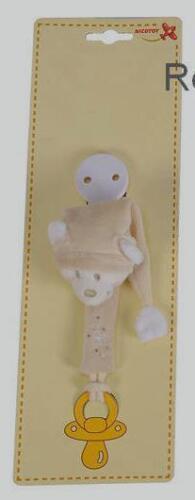 Bärchenkopf mit Zipfelmütze SIMBA Dickie Baby Nicotoy Schnullerhalter NEU