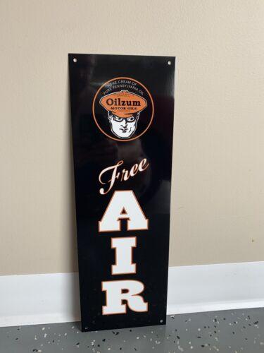 OILZUM  Free Air Garage Metal  Gasoline Gas sign Pump Oil
