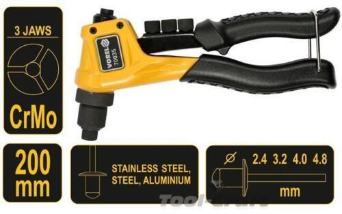 70035 Vorel compact short hand riveter pop rivet gun 200 mm 2.4-4.8 mm