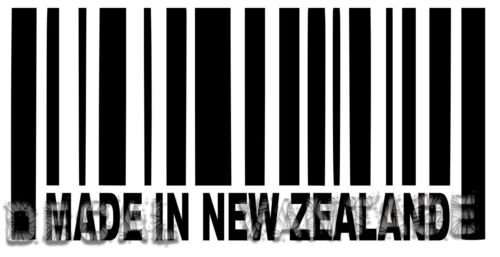 Made In New Zealand Barcode Vinyl Sticker Decal Kiwi Choose Size /& Color