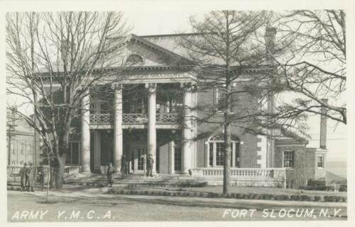 Fort Slocum Army Y.M.C.A. Real Photo, New Rochelle NY