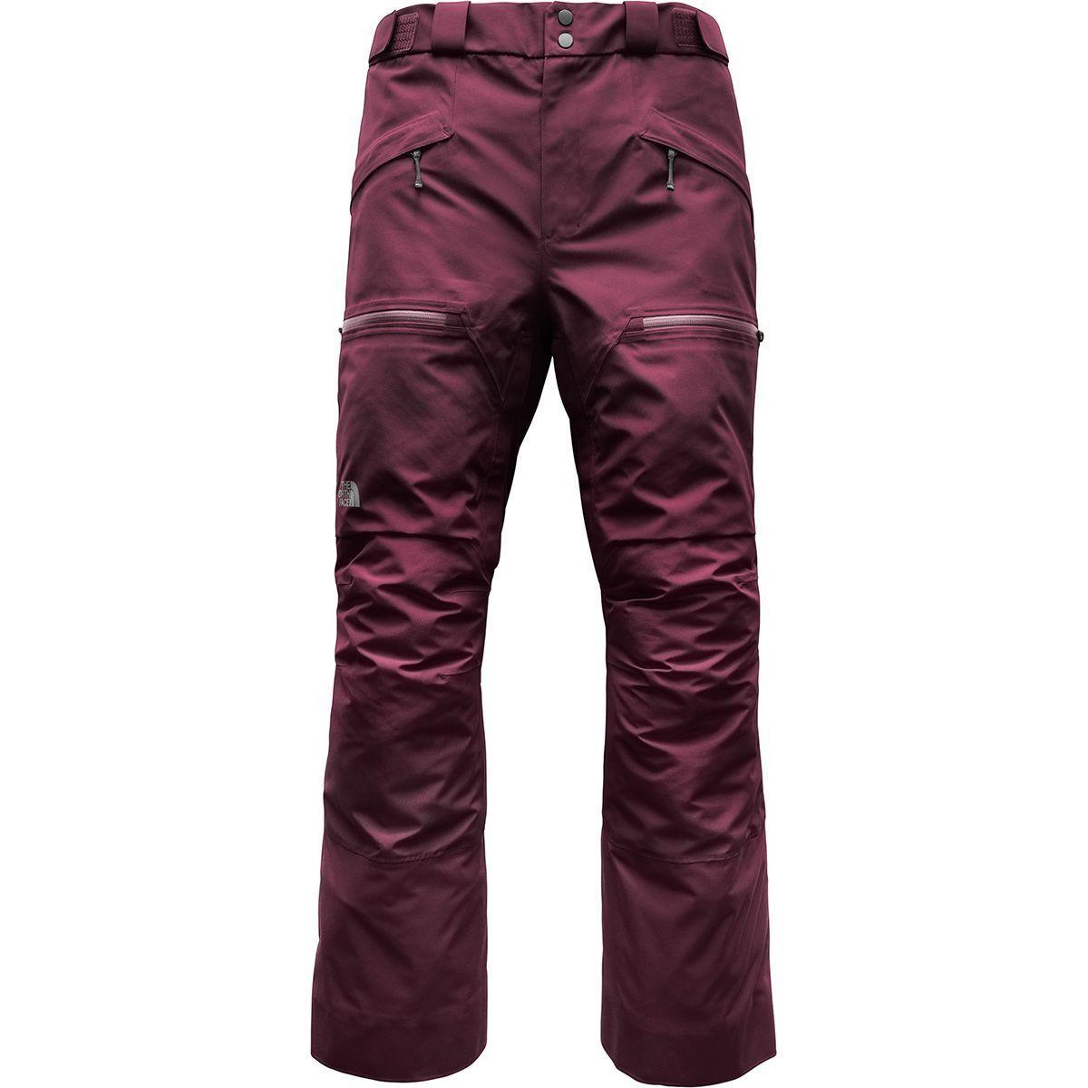 The North Face Men's POWDERFLO Gore-Tex Shell Ski Pants Salopettes Fig Purple M