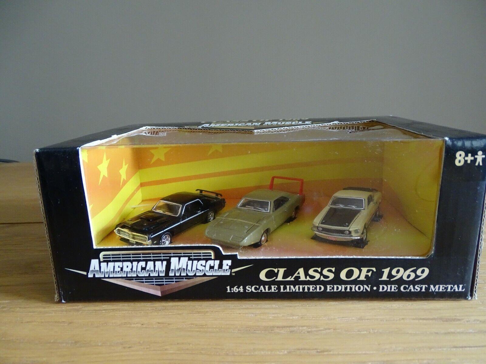 1 64 Ertl 32663 class of 1969 Cougar, Dodge Daytona, MUSTANG MACH 1 Lmtd. pm EDT.