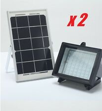 2pack Bizlander Industrial Grade 5W 60LED Flood Light Solar Commercial Lighting