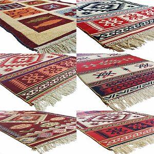Image Is Loading Turkish Moroccan Kilim Design Reversable Washable Rectangular Rugs