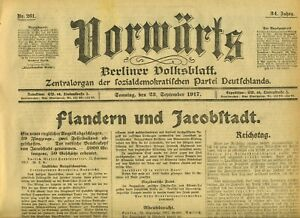 1917-VORWARTS-Flandern-und-Jakobstadt-Aufruf-an-die-grosse-Berliner-revolferung