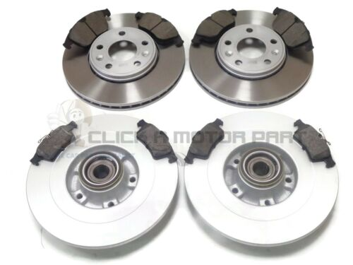 RENAULT LAGUNA MK3 COUPE FRONT /& REAR BRAKE DISCS PADS WHEEL BEARINGS ABS RINGS